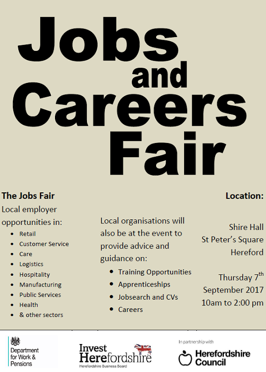 Jobs Fair Advert for Website